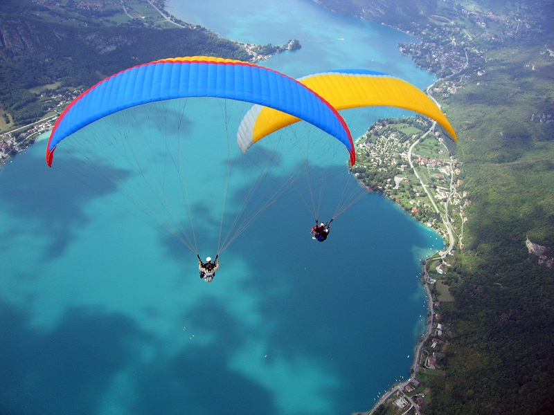 parapente camping annecy